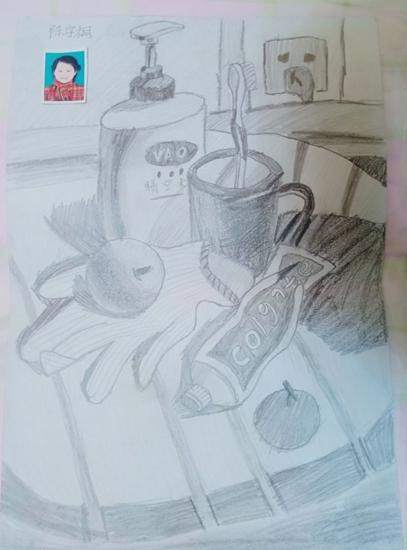 美术儿童B组《洗刷用品》金奖:陈宇桐.jpg
