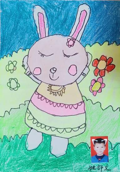 美术儿童A组《跳舞的小兔子》金奖:姚邵文.jpg