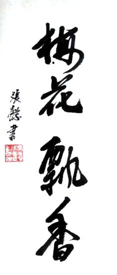 张懿先生书法梅花飘香作品展示